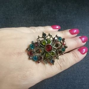 Jewelry - Vintage-Look Multicolored Stretch Ring